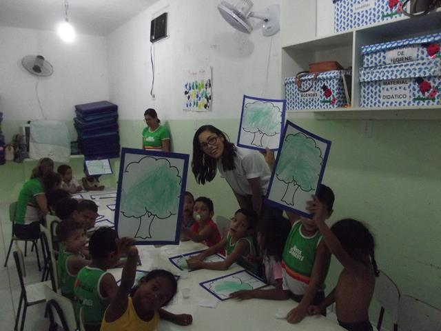 Atividades de Arte Ambiental. Unidade de Acolhimento Marcelo Brito. Petrolina-PE. 16-09-2016