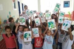 A equipe de Arte Ambiental do PEV esteve desenvolvendo ações de sensibilização com cerca de 70 alunos e professores de escolas públicas da região do Vale do São Francisco.