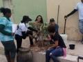 Atividade de arborização no bairro Piranga I, em Juazeiro-BA