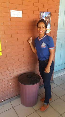 Adesivos de Sensibilização. Escola Polivalente Américo Tanuri. Juazeiro-BA. 03-06-2016