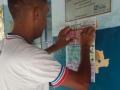 Atividade de Adesivagem da Escola Manoel Novaes. Curaçá-BA. 18/08/2017.