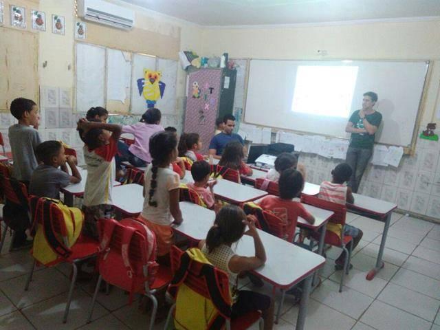 Atividades de Arborização. Escola Luis Cursino. Juazeiro-BA. 15-06-2016