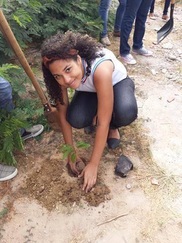 Atividades de Arborização. Escola Antonilio de França Cardoso. Juazeiro-BA. 13-05-2016