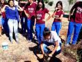 Arborização na Escola Júlia Elisa Coelho, em Petrolina (PE), no dia 22-08.