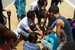 Arborização do PEV mobiliza jovens e crianças