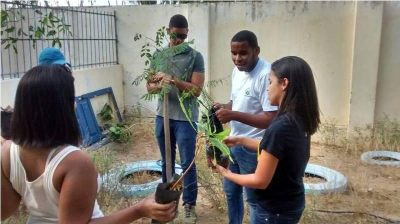 Atividade de arborização - Colégio Estadual Rui Barbosa - Juazeiro-BA - 06.11.15