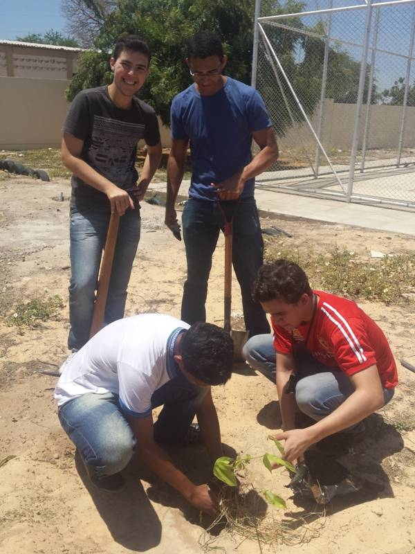 Atividade de arborização - Escola Dr. Pacífico da Luz - Petrolina-PE - 06.11.15