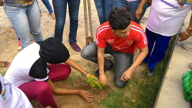 Atividade de arborização - Escola Eduardo Coelho - Petrolina-PE - 30.10.15