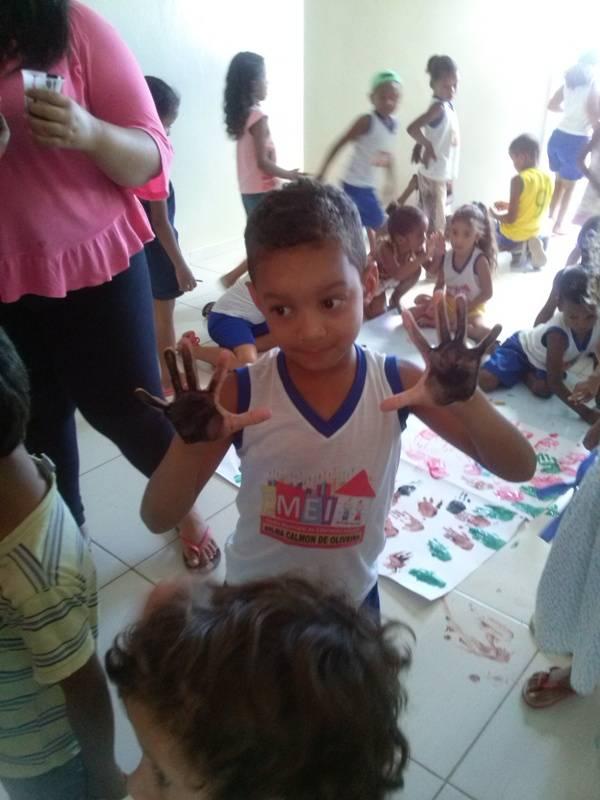 Atividade de arte ambiental - EMEI Dilma Calmon de Oliveira - Juazeiro-BA - 23.09.15