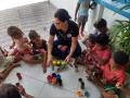 Atividade Reciclagem. Instituição social Casa Lar Maria de Nazaré. Juazeiro-BA. 17/01/2020.
