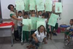 Arte Ambiental do PEV sensibiliza alunos e professores