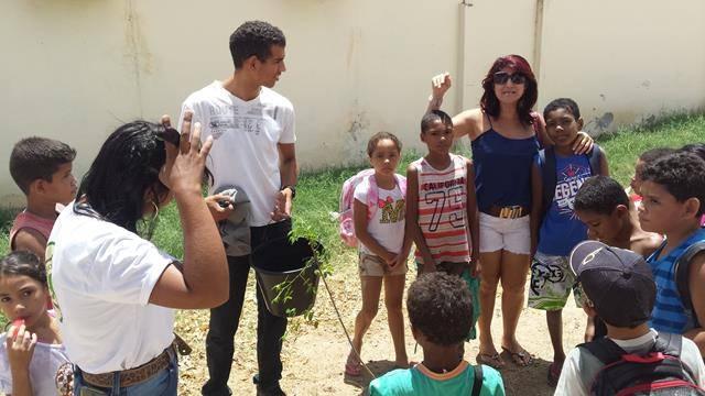 Atividades de Arborização. Escola Escola Luis Cursino. Juazeiro-BA. 14-10-2016