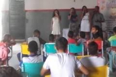 Atividades de Arte Ambiental: Teatro. Escola Cândido Felix Martins. Senhor do Bonfim-BA. 12/04/2017.