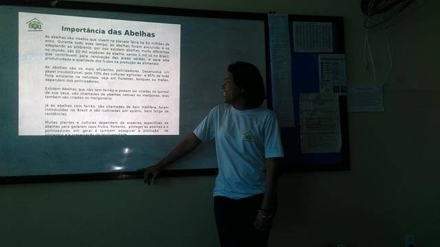 Preservação das abelhas. Escola Marechal Antonio Alves Filho (EMAAF). Petrolina-PE. 08-04-2016