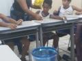 Atividade de panfletagem ocorreu dia 1.11 na Escola Judite Leal Costa, em Juazeiro (BA) com 40 crianças.