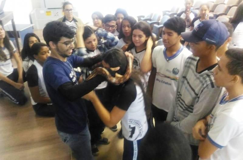 Visita Técnica ao CEMAFAUNA/UNIVASF. Escola Jornalista João Ferreira Gomes. Petrolina-PE. 09/05/2017.