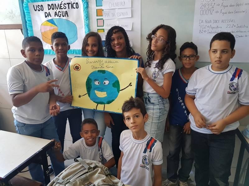 Atividades sobre Recursos Hídricos. Escola Guiomar Barreto Meira. em Juazeiro (BA). 22/03/2018.
