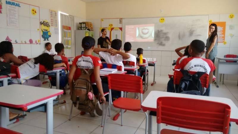 Atividades sobre Recursos Hídricos. Escola Carlos Costa da Silva. em Juazeiro (BA). 19/03/2018.