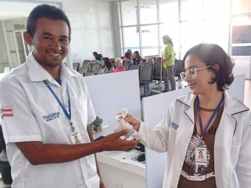 Atividade Coleta Seletiva. Policlínica Regional de Saúde. Juazeiro-BA. 09/08/2019
