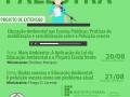 """Projeto """"Educação nas Escolas Públicas: Práticas de mobilização e sensibilização sobre a poluição sonora"""". Escola Maria Wilza Barros de Miranda. Petrolina-PE. 20 e 21/08/2020."""