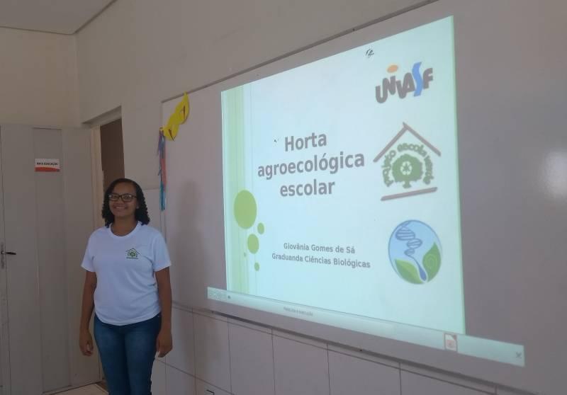 Atividades de Horta Agroecológica. Escola Ludgero de Sousa Costa. Juazeiro-BA. 11/03/2019.