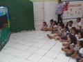 Teatro de fantoches ocorreu no dia 23.08 com 30 alunos do Centro Municipal de Educação Infantil Nosso Espaço, em Juazeiro (BA).