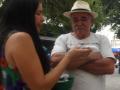 DISTRIBUIÇÃO DE SEMENTES E INTERVENÇÃO DE ARTE EM PRAÇA PÚBLICA