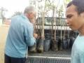 No total, 140 mudas de plantas foram adquiridas pelo PEV de fev a abr. Produção de mudas foi 60 e doações 90.