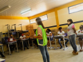 Atividade de Coleta Seletiva realizada na Escola de Referência em Ensino Médio Pau Brasil. Santa Maria da Boa Vista - PE. 10/03/2021.