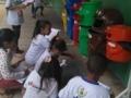 Atividade de coleta seletiva, na Escola Professora Laurita Coelho Leda Ferreira, no dia 28/07