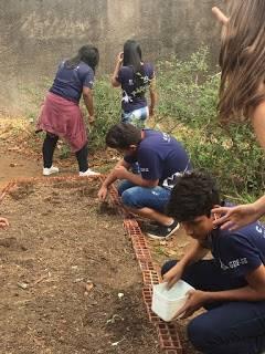 Atividades do Projeto Escola Verde. Centro de Ensino Médio 03 de Taguatinga (DF).