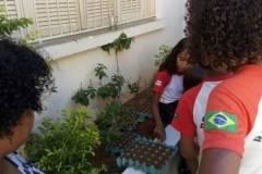 Equipe de Horta Agroecológica movimenta escolas