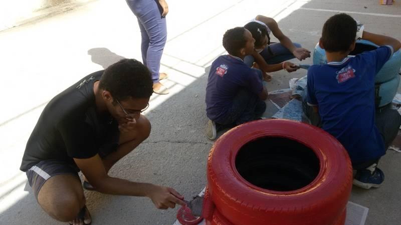 Oficina de reciclagem - Colégio Antonílio da França Cardoso - Juazeiro-BA - 14.11.15