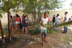 Escola realiza mutirão de limpeza, apresentações artísticas e serviços de saúde e beleza