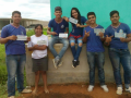 Escolas recebem adesivos fixados pelos estudantes