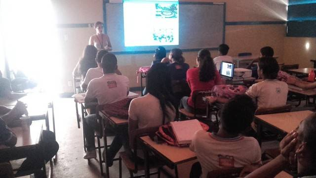Atividade de Palestra sobre hortas agroecológicas - Escola Jutahy Magalhães - Juazeiro-BA - 03.03.16