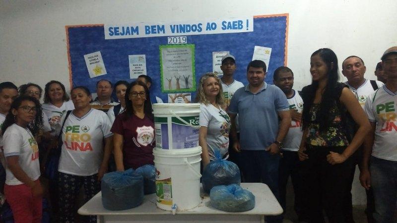 Atividade Compostagem.   Escola Luiz Rodrigues de Araújo. Petrolina-PE. 09/11/2019.