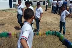 Estudantes e professores realizam atividades de horta escolar