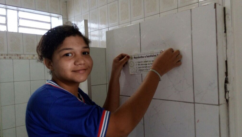Adesivagem da Escola Hildete Lomanto. Juazeiro-BA. 13/07/2017.