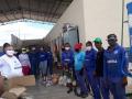 Doação de Cestas Básicas. Cooperativa de Catadores de Materiais Recicláveis do Raso da Catarina. Petrolina-PE. 15/06/2020