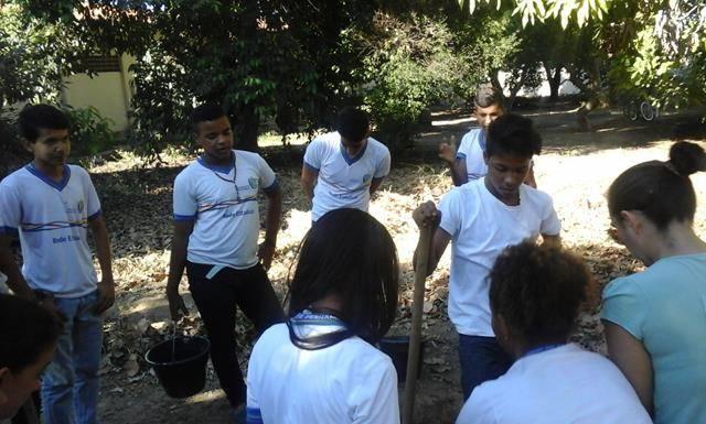 Horta Escolar Agroecológica. Escola Pe Luis Cassiano. Petrolina-PE. 13-05-2016