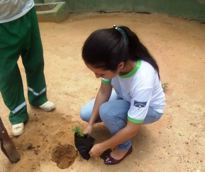 Atividade Arborização. IF-SERTÃO. Petrolina-PE. 01/04/2019
