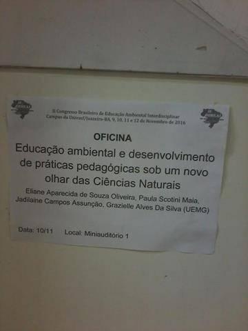 Congresso Brasileiro de Educação Ambiental Interdisciplinar