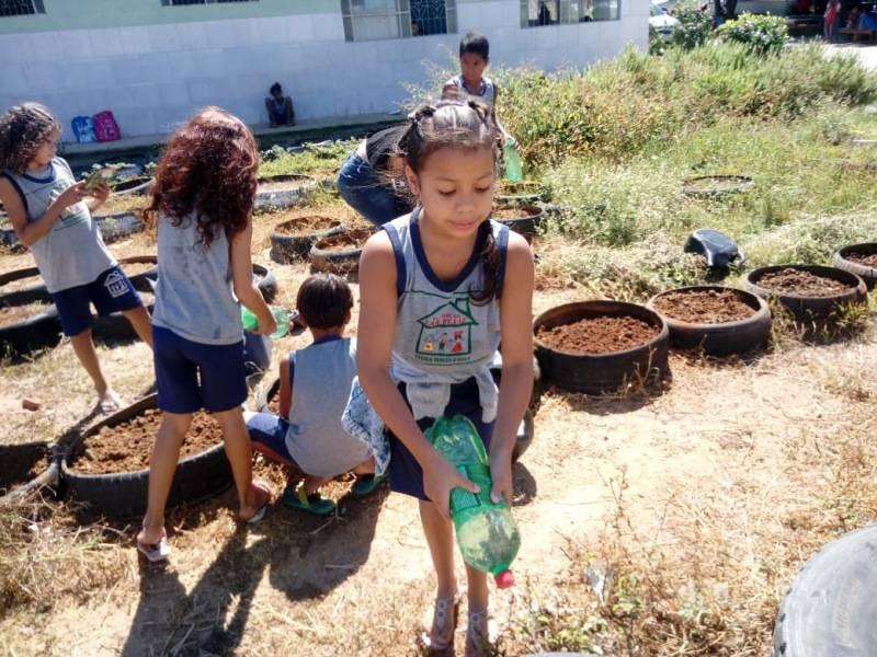 Atividade Horta Agroecológica. Fundação Lar Feliz. Juazeiro-BA. 17/07/2019