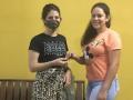 Doação de máscaras de tecido para proteção contra a COVID-19. Solidão (PE). Dezembro de 2020.