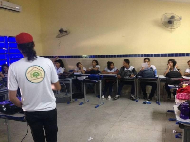 Atividade com 80 estudantes ocorreu na EM Jornalista João Ferreira Gomes, em Petrolina (PE). Ação ocorreu no dia 7.05.