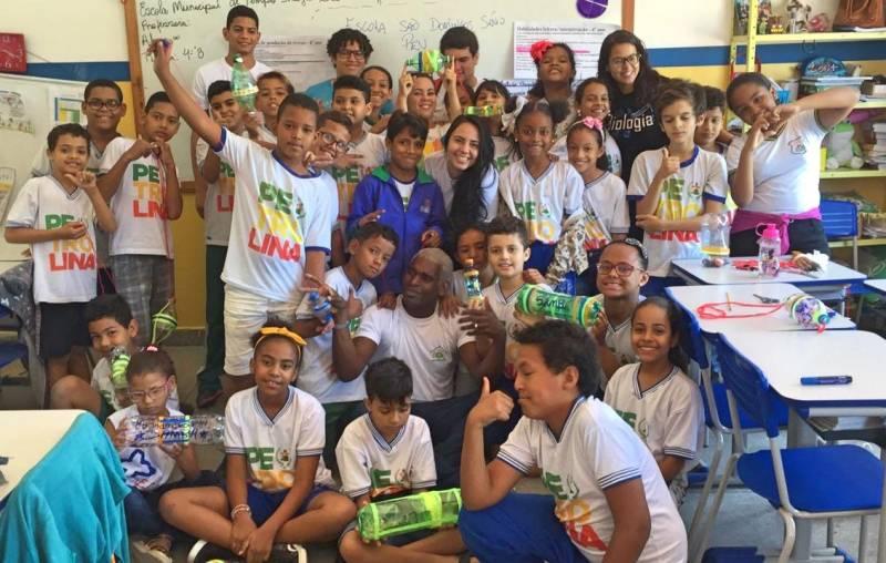 Atividade Reciclagem. Escola São Domingos Sávio. Petrolina-PE. 05/09/2019.
