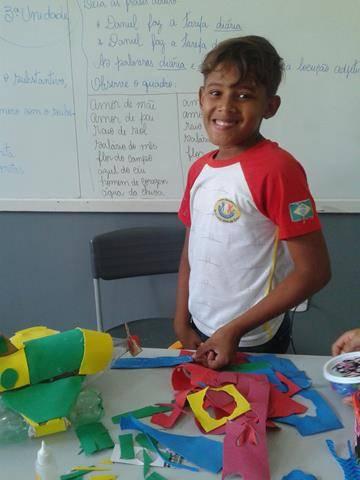 Oficina de Reciclagem. Escola Argemiro José da Cruz. Juazeiro-BA. 01-08-2016