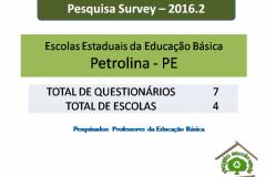 Pesquisa Survey por nível de escolas de Petrolina - 2016.2