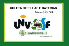 PEV inaugura ponto de coleta de pilhas e baterias no CCA/UNIVASF